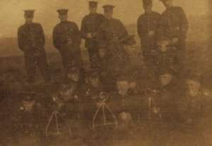 Bramshot m. gun detachment I am on right does it look like I was getting [too fat] on army chuck 1916 fall Laurie